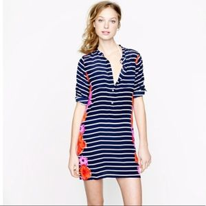 3/$20 J. Crew 100% Silk Striped and Floral Tunic